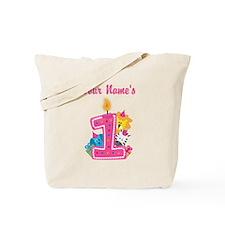 CUSTOM One Year Old Pink Tote Bag