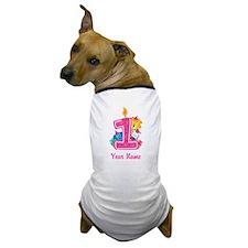 CUSTOM One Year Old Pink Dog T-Shirt
