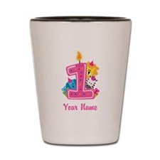 CUSTOM One Year Old Pink Shot Glass
