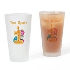 CUSTOM Your Names 1 Drinking Glass