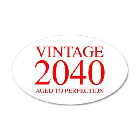 VINTAGE 2040 aged to perfection-red 300 Wall Decal