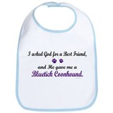 God Gave Me A Bluetick Coonhound Bib