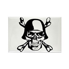 German Skull Rectangle Magnet (100 pack)