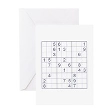 Sudoku Greeting Card