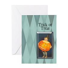 TLK008 Pumpkin Boy Greeting Card
