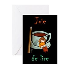 """Joie de lire"" Greeting Cards (Pk of 20)"