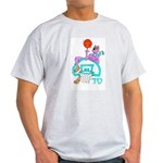SABRA DOG(Menorah)Jewish Ash Grey T-Shirt