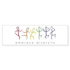 dancing rainbow Bumper Bumper Sticker