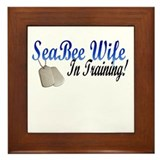 seaBEEwife in training Framed Tile