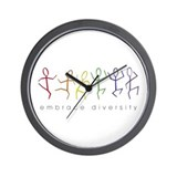 dancing rainbow Wall Clock