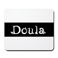 Doula Black Mousepad