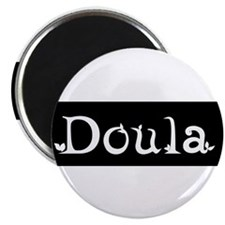 "Doula Black 2.25"" Magnet (100 pack)"