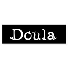 Doula Black Bumper Bumper Sticker