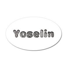 Yoselin Wolf 20x12 Oval Wall Decal