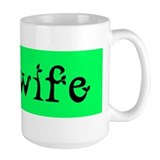 Midwife Green Black Ceramic Mugs