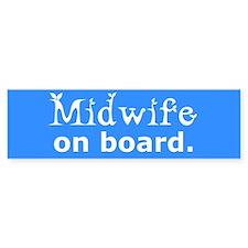 Midwife on Board Bumper Bumper Sticker