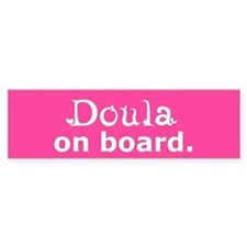 Doula on Board Bumper Bumper Sticker