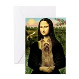 Mona's Silky Terrier Greeting Card