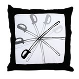 Spinning Sabre Throw Pillow