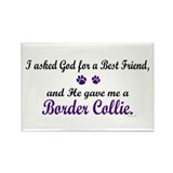 God Gave Me A Border Collie Rectangle Magnet