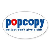 Resden Pop Copy Humor Oval Decal