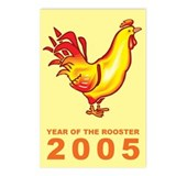 Yellow Rooster Postcards (Package of 8)
