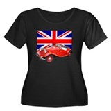 Red MG TD with Union Jack Women's Plus Size Scoop