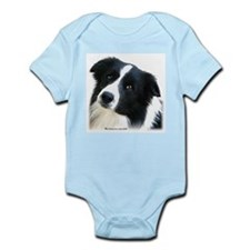 Border Collie Portrait Water Colour Infant Creeper