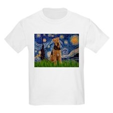 Starry Night & Airedale #6 T-Shirt