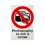 Photography Is Not A Crime Rectangle Magnet
