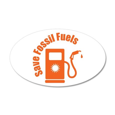 Save Fossil Fuels Wall Decal