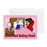 Red Riding Hood Blank Greeting Card