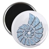 "Light Blue Nautilus Shell 2.25"" Magnet (10 pack)"