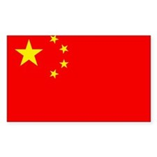 Chinese Flag Rectangle Decal