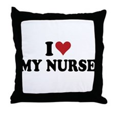 i heart nurses Throw Pillow