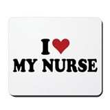 i heart nurses Mousepad