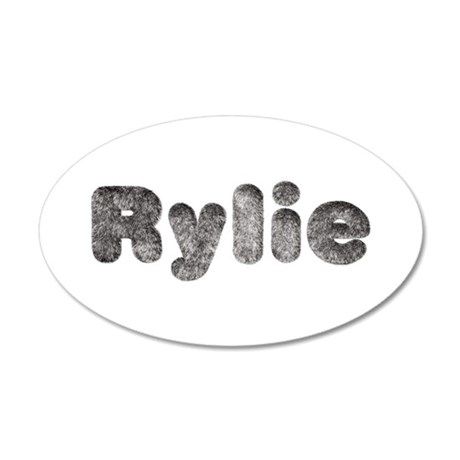 Rylie Wolf 35x21 Oval Wall Decal