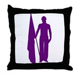 Guard Girl Purple Throw Pillow