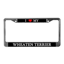 Love Wheaten Terrier License Plate Frame