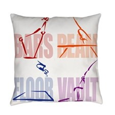 Womens Gymnastics Everyday Pillow