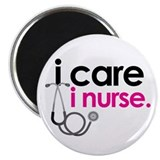 i care i nurse pink Magnet