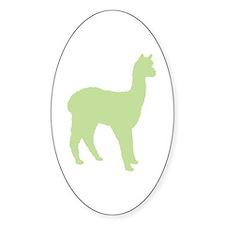 Alpaca (#2 in green) Oval Decal