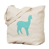 Alpaca (#2 in blue) Tote Bag