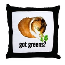 Got Greens Throw Pillow