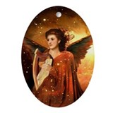 #190 Angel : Oval Ornament