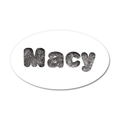 Macy Wolf 35x21 Oval Wall Decal