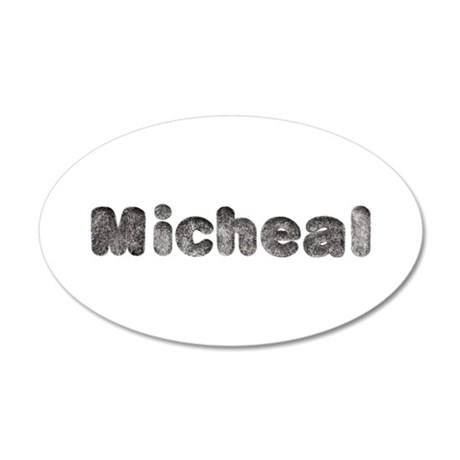 Micheal Wolf 20x12 Oval Wall Decal