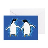 Dancing Penguins Greeting Card