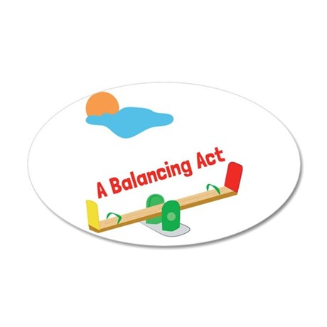 A Balancing Act Wall Decal