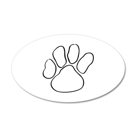 Paw Print Outline Wall Decal